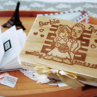 Hand engraved rubber stamp - wedding medallion 5cm*7cm or 6cm*6cm