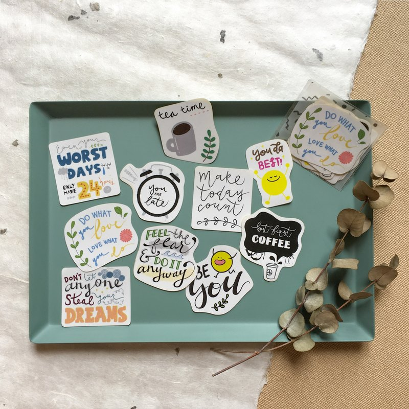 The Little Days - Short Quote Sticker Pack