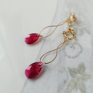 Ruby's glow Earrings
