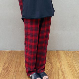 British style double-layer gauze home pants (red)