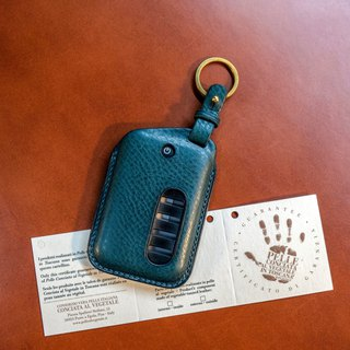Car key holster security magnetic buckle holster special specifications leather case custom free English branding