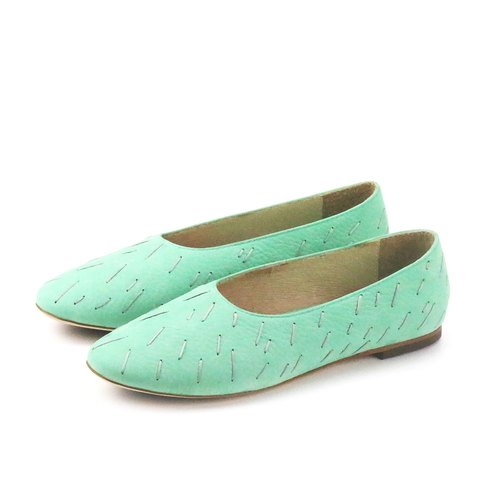 MEMORY W1057 Mint leather flats
