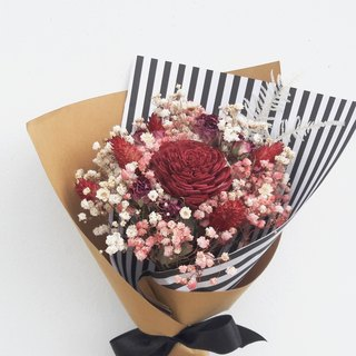 And real flowers || Rose Kiss Dry Flower Bouquet Starry Sky Graduation Gift 0625 Shipping