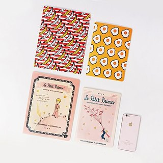 7321Design-BBH striped notebook L-Banana Banana, 7321-87271