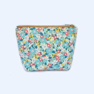小钱包 Cute Coin Purse- Small Zipper Pouch - Tiny Blue Flower