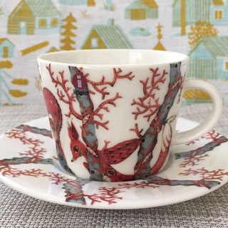 Finland Iittala latest group of hand-painted Tanssi cup (cup + plate)
