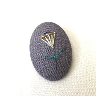 Brooch / hand embroidery / flower _ 2019
