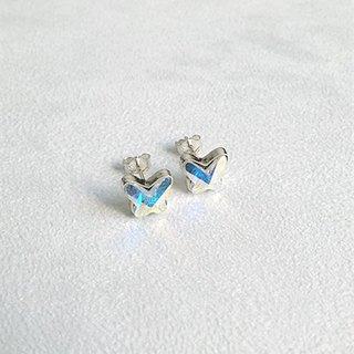 Butterfly-shaped glass/Colorful/Earrings/Swarovski Crystal/Sterling Silver/By hand【ZHÀO】SZE1641