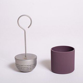 OMMO Buoy stainless steel tea set with saucer arc