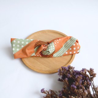 MaryWil Suede Hair Band - Orange Dotted