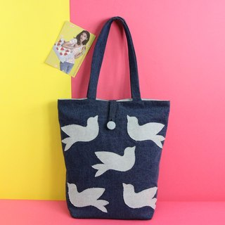 Open Skies Above Denim Tote Bag