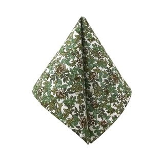 CAVEMAN Pocket Square - Green Forest