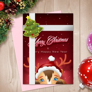 Deer Card | Christmas Card | Deer Christmas Card | Deer Pop Up Card | Pop Up