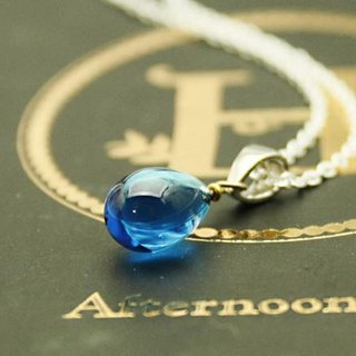 Glass drops Petit Pendant Ice Blue