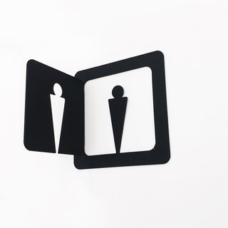 The front and the side can be seen on the stainless steel men and women independent toilet signboard dressing room listing