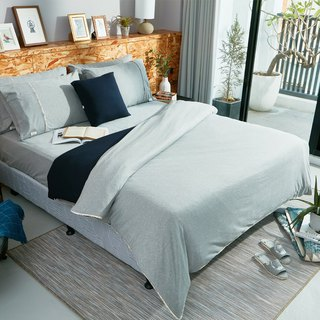 Collagen Skin Organic Cotton Knitted Quilt Cover (Navy Blue)