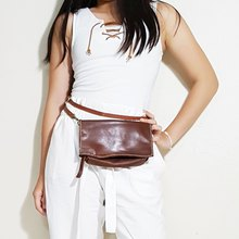 c9ad4013f4a Genuine Leather Sling bag / Fanny Pack / Zipper Pouch / Clutch bag / Travel  Bag