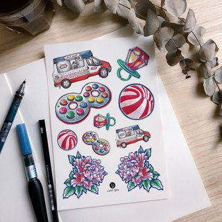 80s Old Hong Kong HK Candy Tattoos Toy Tattoos Colorful Temporary Tattoo Sticker
