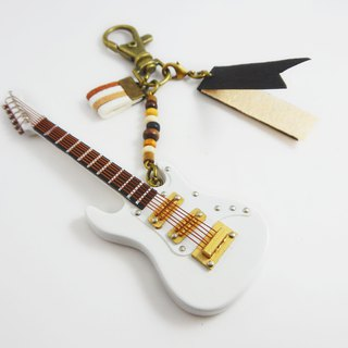 [White electric guitar] electric guitar texture mini model charm packaging accessories custom