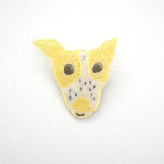 Cute yellow panda mex embroidery pin / patch