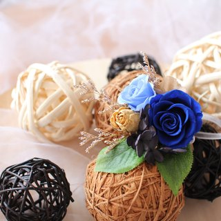 [Dark blue blessing - brooch section] - eternal flower / dried flower / bouquet jewelry / wedding bouquets Bouquet / Flower Ceremony