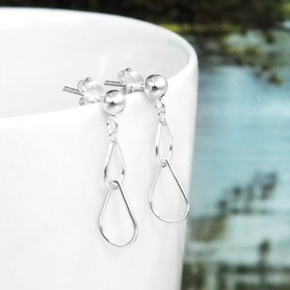 Earrings Water Dripping Sterling Silver Earrings - 64DESIGN