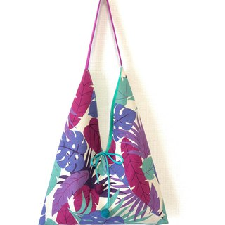 Japanese-style skull-shaped side backpack / medium size / tropical rainforest - purple