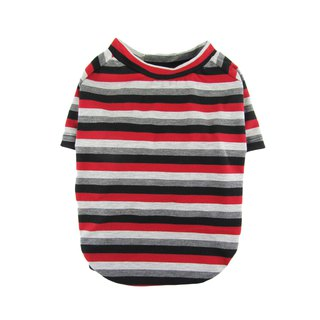 Black Red Gray Striped JERSEY T-shirt, Dog Clothing, Dog Fashion, Dog Apparel