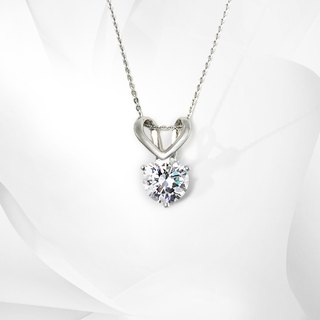 VOSHAS ZEN Collection [Heart] 925 sterling silver necklace