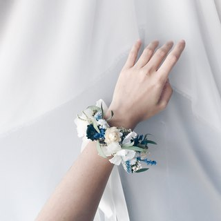 Corsage [God of the Messenger - Hermes Hermes] Dry Flower Wrist Flower Wedding Bridal Accessories