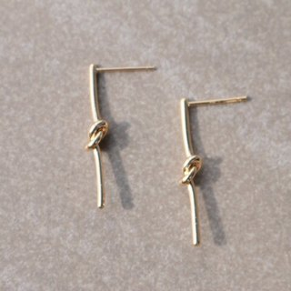 Brass earrings 0668-big day