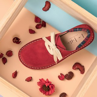Japanese sweet suede big shoes _ rose red