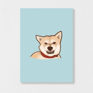"""Shiba Inu - Xiongxiong"" Planet Flies / Shiba Inu / wool kids / illustration postcards / Hands Bazaar"