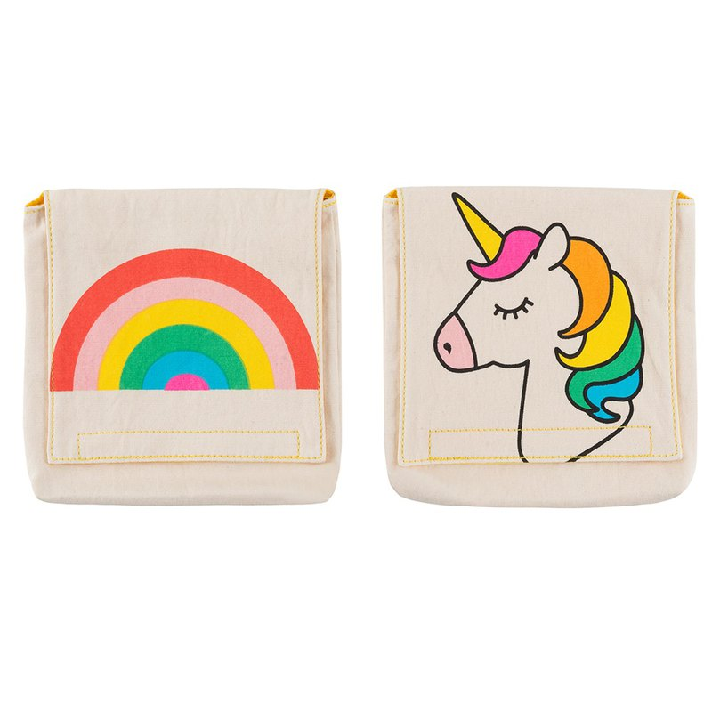 Fluf organic cotton small bag (set of two) - small rainbow