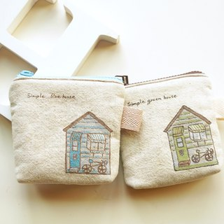 Hand-painted simple life Chalet wallet