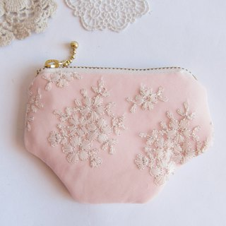 Embroidered  Lace  Purse