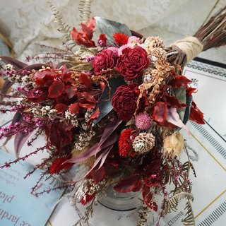 Happiness Hanayome red hand-tied bouquet of natural wind*exchange gifts*Valentine's Day*wedding*birthday gift