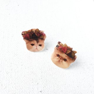 Exotic Cat Frida Jojo  & Kiki 925 silver stud earrings