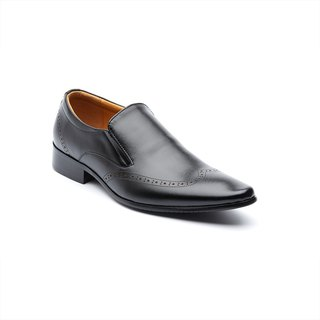 Kings Collection Durham Leather Loafer KG80015 สีดำ
