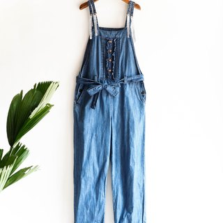 Heshui Mountain - Youth Summer Garden Dream with Daning Sling Trousers / Light Blue