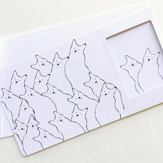 Pin Cards -  Coloring / Color Meow - Greeting Frame Card