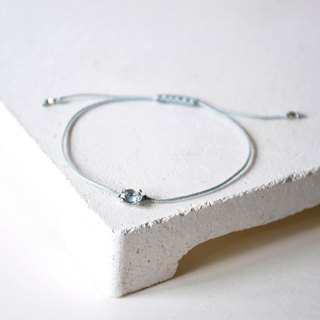 Handmade Simple Topaz with 925 silver Bracelet, Birth stone for November