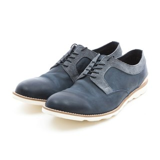 ARGIS outer feather root stitching leather casual shoes #31103 Navy - Japanese handmade