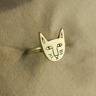 Ohappy Animal Series | Cat Brass Ring