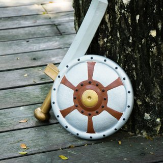American Rubbabu Pure Natural Latex Sword Shield Group Gladiator Gladiator