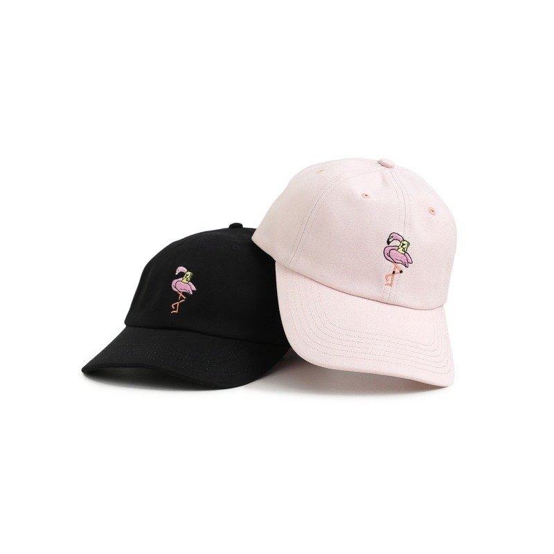 ANYBEARS x FILTER017 Flamingo Bear Ball Cap flamingo Bear retro baseball cap  - Designer filter017  38e8224981e