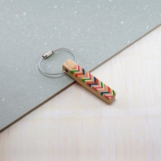 Send wood style key ring / R1205001