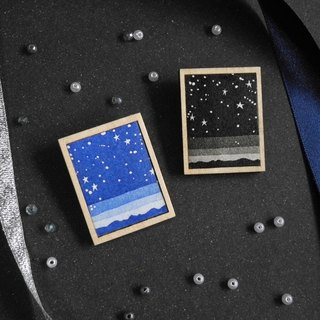 The brooch of starlit sky