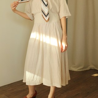 Playa Dress beige/light pink linen dress (can be ordered in other colors)