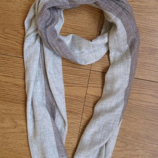 Cashmere Stripes Shawl / Scarf / Stole Grey